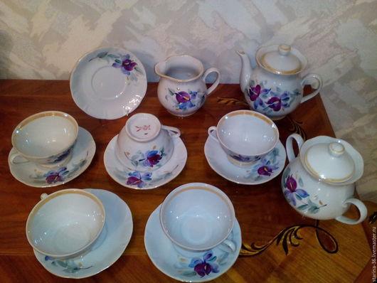 Винтажная посуда. Ярмарка Мастеров - ручная работа. Купить Чайный сервиз. КремГрэс.. Handmade. Комбинированный