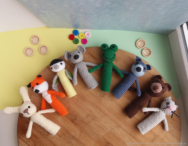 вязаные пальчиковые игрушки купить в интернет магазине на ярмарке