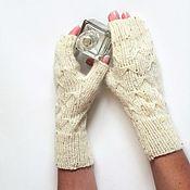 Аксессуары handmade. Livemaster - original item Fingerless gloves with sequins. Handmade.