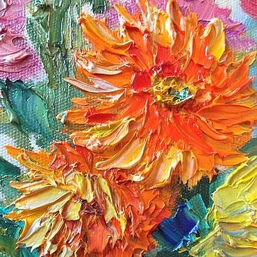 Картины и панно ручной работы. Ярмарка Мастеров - ручная работа Картина маслом Осенняя нежность. Handmade.