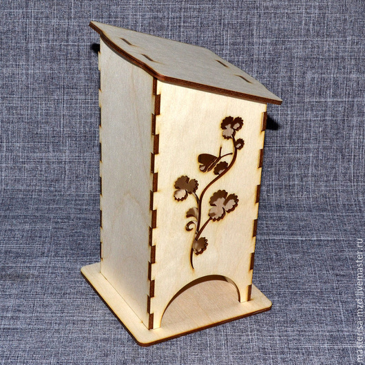 ЧД-02-003. Чайный домик `Бабочка на веточке`.