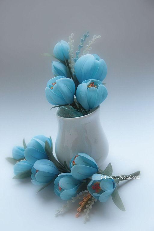 """Свадебные украшения ручной работы. Ярмарка Мастеров - ручная работа. Купить Свадебный комплект """"Сапфир"""". Handmade. Голубой, цветы для невесты"""