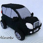Куклы и игрушки ручной работы. Ярмарка Мастеров - ручная работа Toyota Land Cruiser - вязаный автомобиль. Handmade.