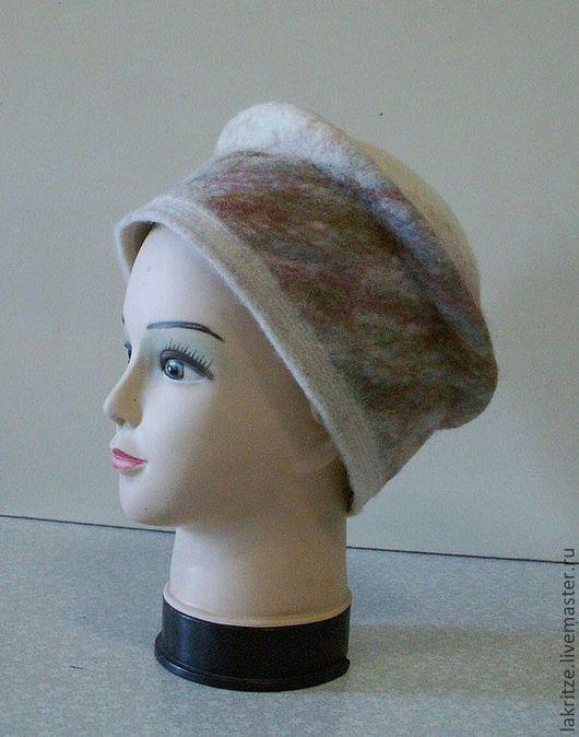 """Шляпы ручной работы. Ярмарка Мастеров - ручная работа. Купить Шляпка """"Скандинавия"""".. Handmade. Абстрактный, нуновойлок, шерсть меринос"""