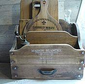 Мини-комоды ручной работы. Ярмарка Мастеров - ручная работа Настольный органайзер из кедра для кухни ,maison blanche. Handmade.