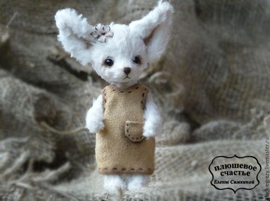 """Мишки Тедди ручной работы. Ярмарка Мастеров - ручная работа. Купить Белый тедди фенек  """"Малышка"""". Handmade. Белый, фенечка"""