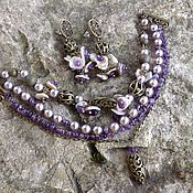 Украшения handmade. Livemaster - original item A set of bracelet and earrings