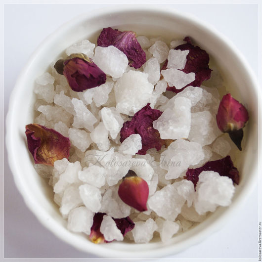 Соль для ванны ручной работы. Ярмарка Мастеров - ручная работа. Купить Соль для ванны питательная Розовое Молочко. Handmade. Бордовый