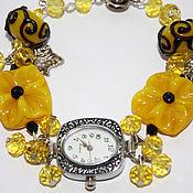 """Украшения ручной работы. Ярмарка Мастеров - ручная работа Часы """"Немного желтого"""". Handmade."""