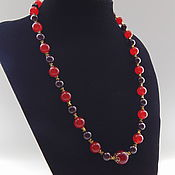 Украшения handmade. Livemaster - original item Necklace made of natural stones garnet and carnelian
