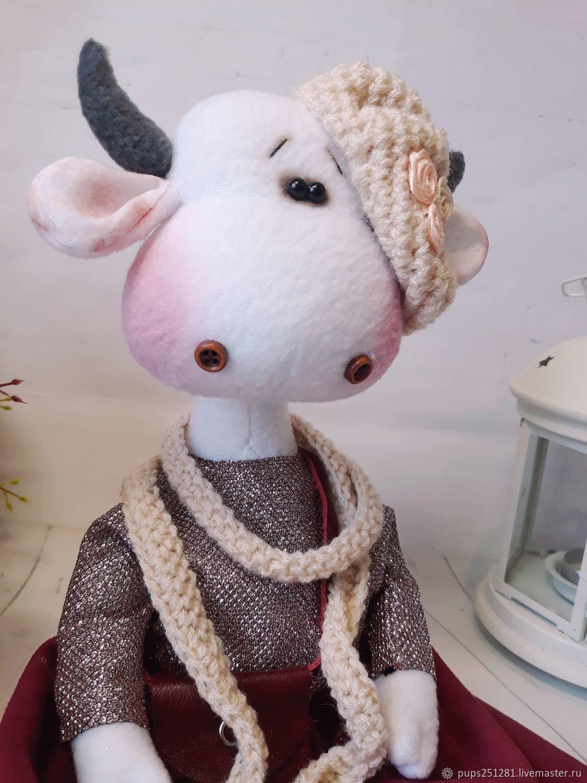 Текстильная корова Жозефина, Тильда Зверята, Суворов,  Фото №1