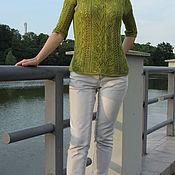 Одежда ручной работы. Ярмарка Мастеров - ручная работа Пуловер Шепот листьев. Handmade.