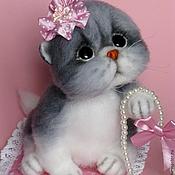 """Куклы и игрушки ручной работы. Ярмарка Мастеров - ручная работа Валяная кошечка """"Роззи"""". Handmade."""