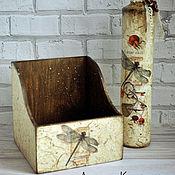 Для дома и интерьера ручной работы. Ярмарка Мастеров - ручная работа Короб для специй  СТРЕКОЗА. Handmade.