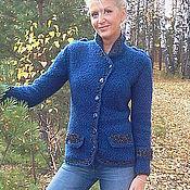 """Одежда ручной работы. Ярмарка Мастеров - ручная работа жакет""""Синий"""". Handmade."""