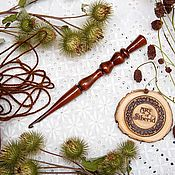 Материалы для творчества handmade. Livemaster - original item Knitting hook made of Siberian cedar wood 4 mm. K25. Handmade.