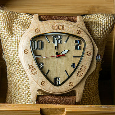 Украшения ручной работы. Ярмарка Мастеров - ручная работа Деревянные часы «Котлы» от Timbersun, ручная работа. Handmade.