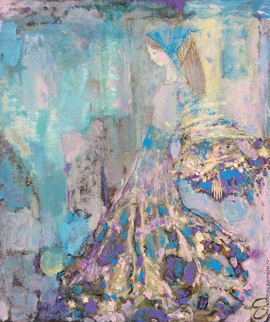 """Фантазийные сюжеты ручной работы. Ярмарка Мастеров - ручная работа. Купить Картина """"Навстречу Весне"""" авторская живопись акрилом.. Handmade."""