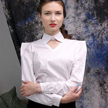 Одежда ручной работы. Ярмарка Мастеров - ручная работа Белая женская рубашка, белая женская блузка. Handmade.