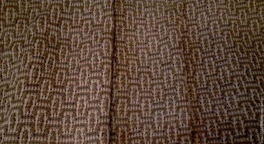 """Шитье ручной работы. Ярмарка Мастеров - ручная работа. Купить 100%лён ткань машинной вязки """"ЦВЕТНЫЕ КЛЕТОЧКИ"""". Handmade. полотно"""