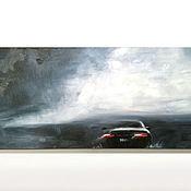 """Картины и панно ручной работы. Ярмарка Мастеров - ручная работа Картина маслом """"Сквозь дождь..."""". Handmade."""