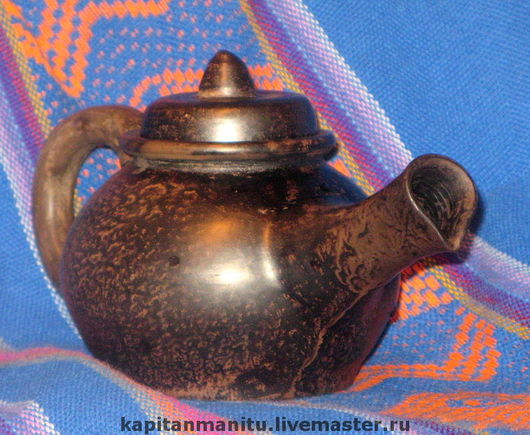 Teapots & Coffeepots handmade. Livemaster - handmade. Buy Kettle 'Lazy morning'.Pottery ceramics, kettle, smoke