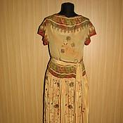 Одежда ручной работы. Ярмарка Мастеров - ручная работа Платье из индийского сари. Handmade.