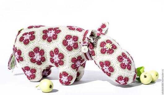 Игрушки животные, ручной работы. Ярмарка Мастеров - ручная работа. Купить Кукла вязанная Бегемот из мотивов африканский цветок. Handmade.