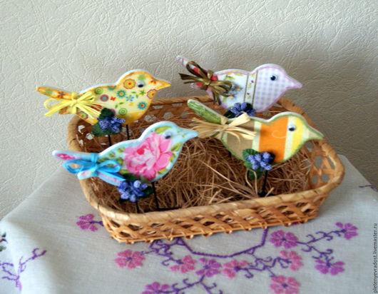 Статуэтки ручной работы. Ярмарка Мастеров - ручная работа. Купить Птички для декора. Handmade. Пасха, птички, для дома, подарок на Пасху