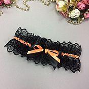 Одежда ручной работы. Ярмарка Мастеров - ручная работа Подвязка черная из кружева. Handmade.