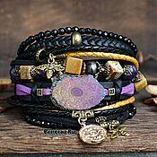 Украшения handmade. Livemaster - original item BOHO style bracelet with quartz