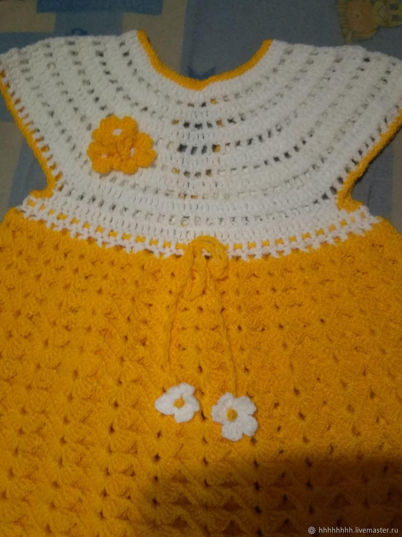 Платье крючком на 1,5-2 года