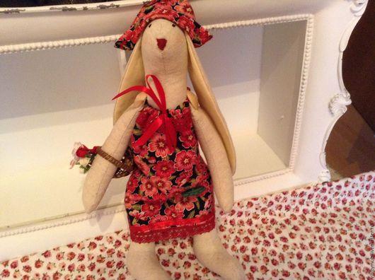 Куклы Тильды ручной работы. Ярмарка Мастеров - ручная работа. Купить Тильда Зайка с цветочной корзинкой. Handmade. Тильда