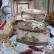 """Для дома и интерьера ручной работы. Ярмарка Мастеров - ручная работа Утюг """"В стиле кантри..."""". Handmade."""