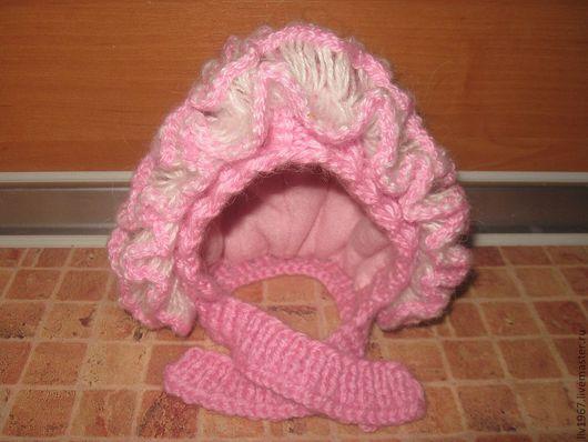 Детская вязаная шапка.  Для детей возраста от 2-12 месяцев. Сезон осень-зима-весна. Цвет любой. Материал: ангора RAM (40% мохер, 60% акрил) Подкладка - синтепон и 100% шерстяная ткань