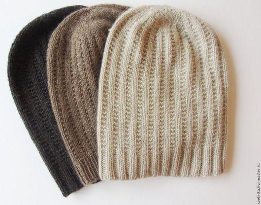 Шапки ручной работы. Ярмарка Мастеров - ручная работа. Купить Кашемировые шапочки. Handmade. Бежевый, шапка- носок, 8осенняя шапка