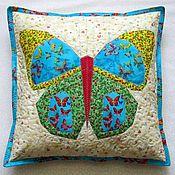 """Для дома и интерьера ручной работы. Ярмарка Мастеров - ручная работа Чехол на подушку """"Бабочка"""". Handmade."""