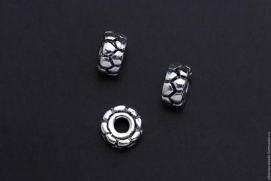 Для украшений ручной работы. Ярмарка Мастеров - ручная работа. Купить Бусина серебро 925 пробы 5,5х3 мм. Handmade.