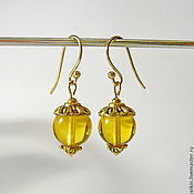 Украшения handmade. Livemaster - original item Amber earrings S-05. Handmade.