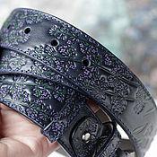Аксессуары handmade. Livemaster - original item Strap Lavender Dark blue. Handmade.