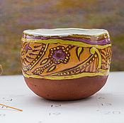 Посуда ручной работы. Ярмарка Мастеров - ручная работа пиала Индийский орнамент. Handmade.