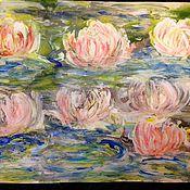 Картины и панно handmade. Livemaster - original item In the garden of lotuses.Mixed media.. Handmade.