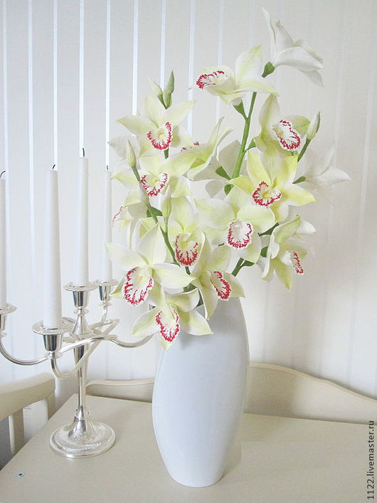 Букеты ручной работы. Ярмарка Мастеров - ручная работа. Купить Букет из орхидеи цимбидиума. Handmade. Орхидея, букет, для интерьера
