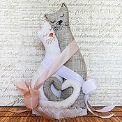 """Свадебный салон ручной работы. Ярмарка Мастеров - ручная работа Подарок на свадьбу """"Коты обнимашки"""". Handmade."""