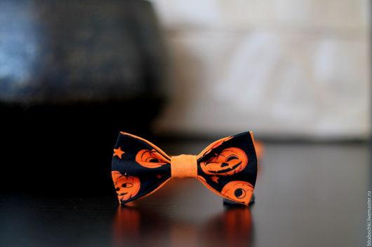 """Галстуки, бабочки ручной работы. Ярмарка Мастеров - ручная работа. Купить Бабочка с тыквами """"Хеллоуин"""" детская/взрослая. Handmade. Орнамент, хеллоуин"""