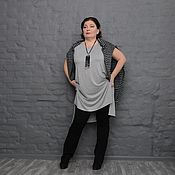 Одежда handmade. Livemaster - original item Tank top tunic Heather grey with elongated back. Art. 1594. Handmade.