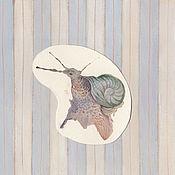 Картины и панно ручной работы. Ярмарка Мастеров - ручная работа улитка. Handmade.
