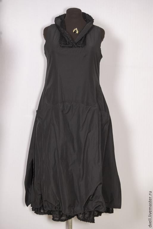 Платья ручной работы. Ярмарка Мастеров - ручная работа. Купить Заболонное платье сарафан 38-40. Handmade. Черный