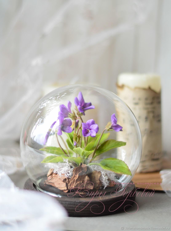 Interior arrangement with wild violets, Composition, Vladivostok,  Фото №1