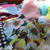 Материалы для творчества ручной работы. Ярмарка Мастеров - ручная работа лоскуты ткани. Handmade.
